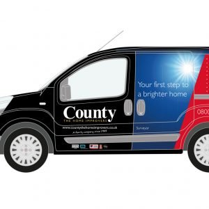 County The Home Improvers Vehicle Graphics